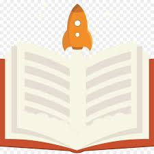 paper book cartoon open books and cartoon rocket jet