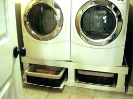 washer dryer stand diy plans base cabinet platform platforms build and m how to a pedestal box installation