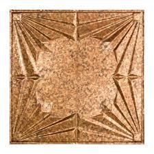 art deco 2 ft x 2 ft vinyl lay in ceiling tile in ed copper