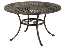 mayfair by hanamint luxury cast aluminum patio furniture 48 round dining table