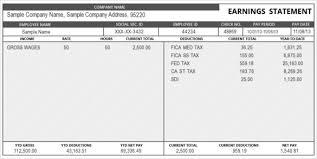 Statement Of Earnings Template Free Employee Earnings Statement Template Free Download