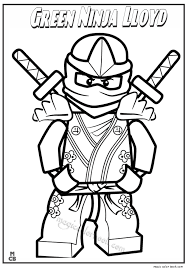Small Picture Green Ninja Lloyd Lego Coloring Pages