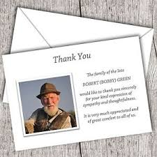 Personalized Sympathy Thank You Cards Personalised Sympathy Funeral Thank You Cards Packs Of 10 20 40