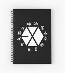 Exo Notebook Design Exo Elements Design Spiral Notebook By Kimstaehyung
