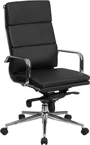 contemporary leather high office chair black. executive pro black leather contemporary high office chair