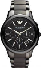 "emporio armani watches men s ladies armani watch shop comâ""¢ mens emporio armani ceramic chronograph watch ar1452"