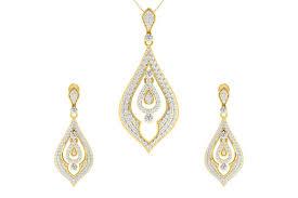 nomi brilliant diamond pendant earrings set