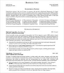 Template For Professional Resume Inspiration Simple Resume Template Test Engineer Resume Template Simple