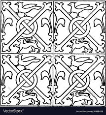 Medieval Design Patterns Medieval Tile Pattern Is A Stained Glass Design