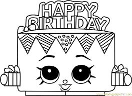 Birthday Coloring Pages Birthday Betty Shopkins Coloring Page Free