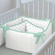 mint herringbone crib bedding neutral baby bedding
