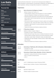 Resume For A Business Analyst Business Analyst Resume Sample Complete Guide 20 Examples