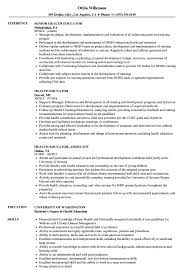 Health Educator Resume Samples Velvet Jobs