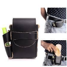 handmade long genuine leather cigarette case box with lighter holder for full pack box of king size 100 s