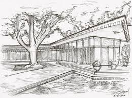architectural building sketches. Modern Style Architectural Buildings Sketches And Cross Section Of Steven W Building M