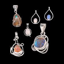 silverhill jewelry sterling silver semiprecious stone pendants