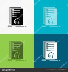 Design Check Categories Categories Check List Listing Mark Icon Various Background