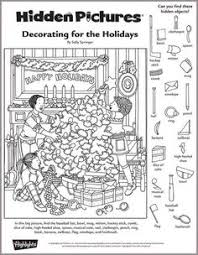 Small Picture New Years Day Hidden Picture PuzzleColoring Page Puzzles Logic