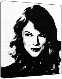 Small Picture Taylor Swift Pop Art Painting 100 Original Painting Not a Print