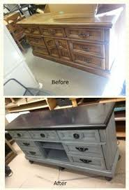 diy furniture refinishing projects. ugly dresser turned fabulous entertainment center wwwhuehomefurnishingscom diy furniture refinishing projects