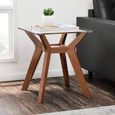 Side Table Scandinavian Design Amazon Com 1 Piece 24 Inch Brown Accent Table Mid Century