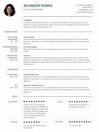 Resume Curriculum Vitae Template Unique Cv Templates