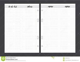 planner page template to do list printable template vector planner page stock