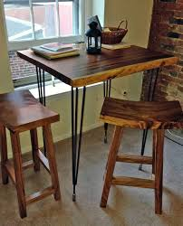 table and bar stools. high bar table amp stools custom impact imports industrial kitchen tables and