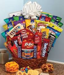 sweets basket with chocolates