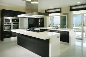 Minimalist Kitchen Design With Black Color On Cabinets Furniture Kitchen ...