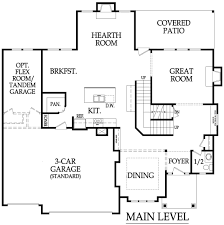 Kc Builders And Design Sequoia Two Story Main Floor Plan By Kc Builders Design