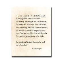 Beautiful Literary Quotes Best Of F Scott Fitzgerald Quote Print She Was Beautiful Fitzgerald