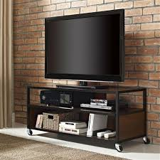 tv cart on wheels. Modern Mobile TV Stand Entertainment Center Cart With 4-Casters Wheels Tv On T