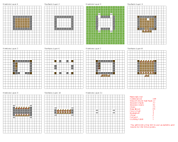 Small Picture Minecraft House Blueprints Layer By Layer 07 Minecraft