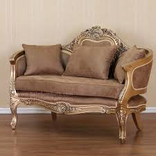 French Style Sofa 2 Seater Gold