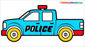 Tranh tô màu xe cảnh sát đẹp nhất cho bé sáng tạo