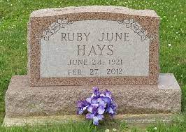 Ruby June Etchison Hays (1921-2012) - Find A Grave Memorial