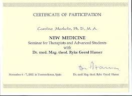 Scientific Chart Of German New Medicine Caroline Markolin Ph D