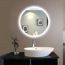 wall mounted lighted mirror round led wall mounted lighted vanity bathroom silvered illuminated mirror with touch