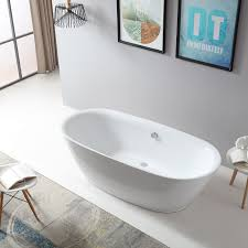 freestanding bathtub roma bs 916 180x84 cm white incl drain overflow