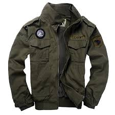 Us 66 04 Mens Military Style Jackets Pilot Coat 101st Airborne Division Coats Usa Army Air Force Bomber Jacket With Eagle Metal Badge In Jackets