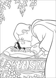 Small Picture Snow White kiss coloring page