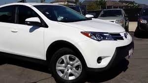 2014 Toyota RAV4 LE AWD White! - YouTube