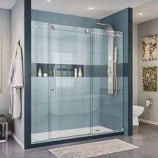 clear home depot glass shower doors