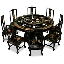 black lacquer dining room furniture. inspiring chinese dining room set 17 for your old with black lacquer furniture