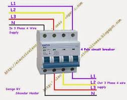 3 pole circuit breaker wiring diagram within how to wire 4 pole 3 Phase Power Wiring Diagram at 3 Phase 4 Wire System Diagram