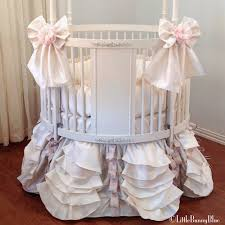 valentina round crib baby bedding by