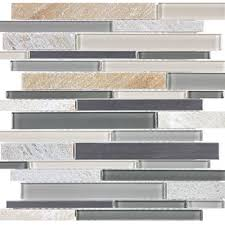 bliss fossil rock linear glass stone stainless blend