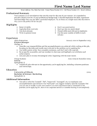 Sample Resume Template Interesting Free Professional Resume Templates LiveCareer