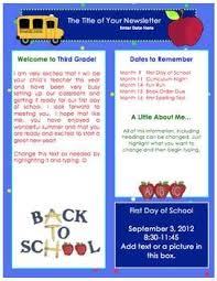 Welcome Back To School Letter Templates Free Back To School Welcome Back Newsletter Template Fall